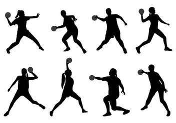 Silhouette Of Dodge Ball Player - Free vector #399165