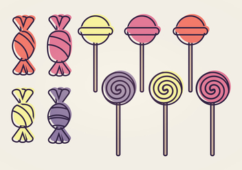 Vector Candy Collection - vector #399285 gratis