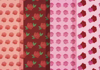 Vector Roses Patterns - Free vector #399295