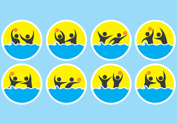 Water Polo Icons - vector #399425 gratis
