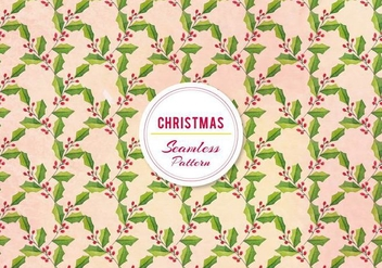 Free Vector Christmas Holly Pattern - vector gratuit #399465