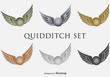 Quidditch Flying Flat Vector Iconset - Kostenloses vector #399475
