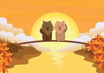 Free Pomeranian Illustration - Free vector #399485