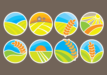 Rice Icons Vectors - бесплатный vector #399505