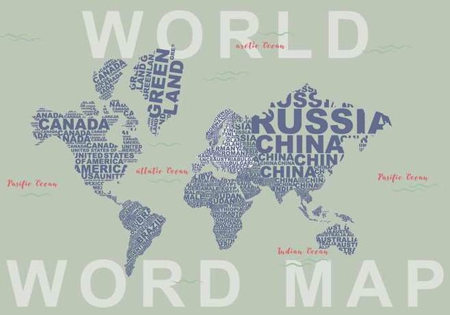 Free Word Map Illustration Free Vector Download 399515   CannyPic