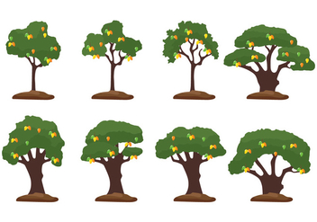 Mango Tree Illustration - vector gratuit #399535
