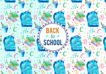 Free Vector Back To School Illustration - бесплатный vector #399605