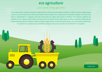 Agro Webpage Template - Free vector #399665