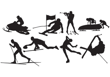 Free Winter Sport Silhouette Vector - Free vector #399675