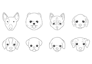 Free Hand Drawing Dog Head Vector - vector gratuit #399685