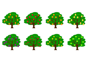 Free Fruit Tree Vector Illustration - vector gratuit #399705