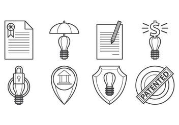 Free Idea Protection Icon Vector - Kostenloses vector #399725