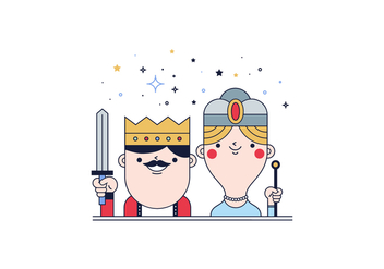 Free Kings And Queen Vector - бесплатный vector #399765