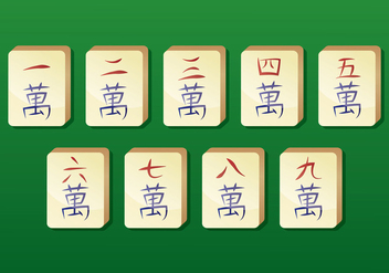 Mahjong Vector Icons - бесплатный vector #399855