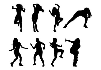 Free Zumba Dance Silhouettes Vector - Free vector #399925