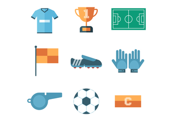 Free Soccer Icon Set Vector - Free vector #399965