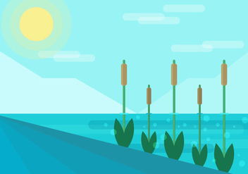 Reeds Flat Illustration Vector - бесплатный vector #399985