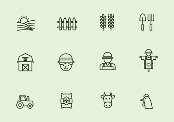 Vector Farm Thin Line Icon - vector gratuit #399995