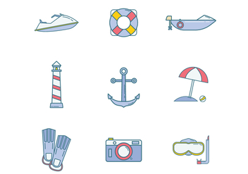Free Beach Icon Vector - vector gratuit #400155