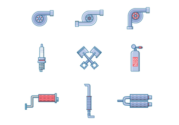 Free Automotive Parts Vector - Free vector #400185