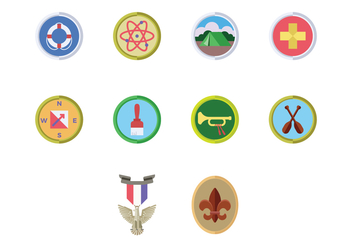 Free Boy Scouts Badge Vector - Free vector #400195