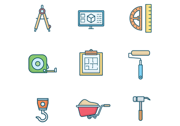 Free Architect and Construction Vector - vector gratuit #400225