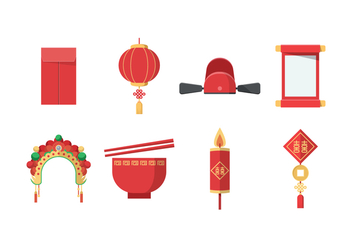 Free Chinese Wedding Vector - бесплатный vector #400235