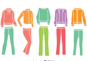 Colorful Tracksuit Collection Vector - бесплатный vector #400355