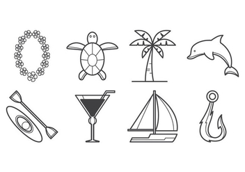 Free Tropical Island Icon Vector - vector gratuit #400435