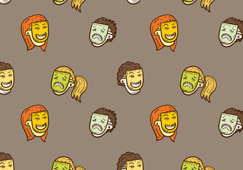 Free Teatro Seamless Pattern Vector Illustration - vector #400455 gratis