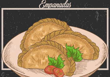 Empanadas Fried Illustration - vector gratuit #400505