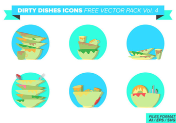 Dirty Dishes Icons Free Vector Pack Vol. 4 - vector #400515 gratis