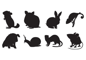 Free Animal Pet Silhouettes Vector - бесплатный vector #400535