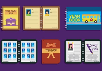 Yearbook Vector Layouts - vector gratuit #400575