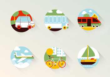 Transport Vector Icons - vector gratuit #400635