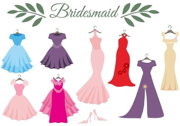 Free Wedding Dress Bridesmaid Vector - Kostenloses vector #400645