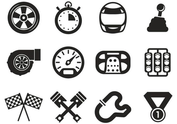 Free Race Car Icons Vector - vector #400785 gratis
