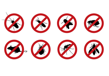 Pest Control Sign Vector - vector gratuit #400875