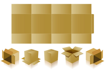 Basic Packaging with Die Cut Vectors - vector #400895 gratis