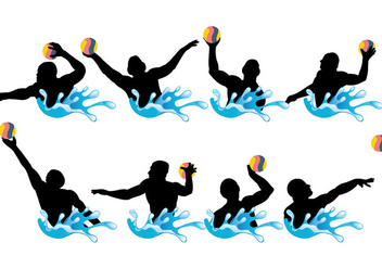 Free Water Polo Icons Vector - Free vector #400905