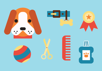 Taking Care of My Dog - vector gratuit #400965