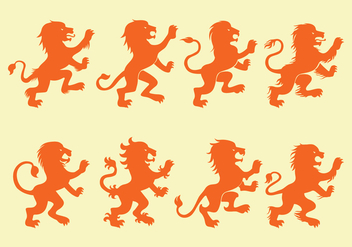 Lion Rampant Icons - vector gratuit #401065