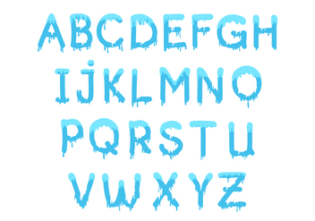 Free Water Font Vector - Free vector #401105