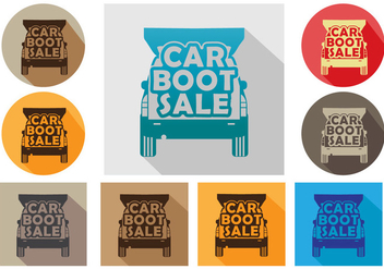 Car boot icon vector set - vector gratuit #401155