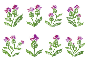 Thistle Icons - Free vector #401165