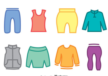 Colorful Tracksuit Icons Vector - vector gratuit #401235