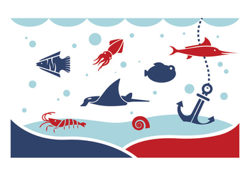 Under the Sea Vectors - Free vector #401345