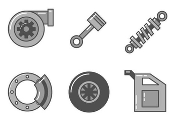 Free Car Parts Vector - vector gratuit #401355