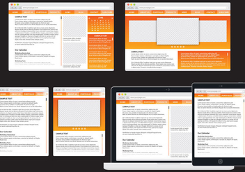 Orange Adaptive Web - vector #401395 gratis