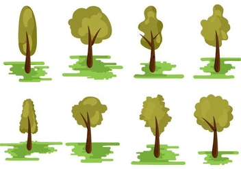 Free Different Kind of Tree Vector - vector #401435 gratis